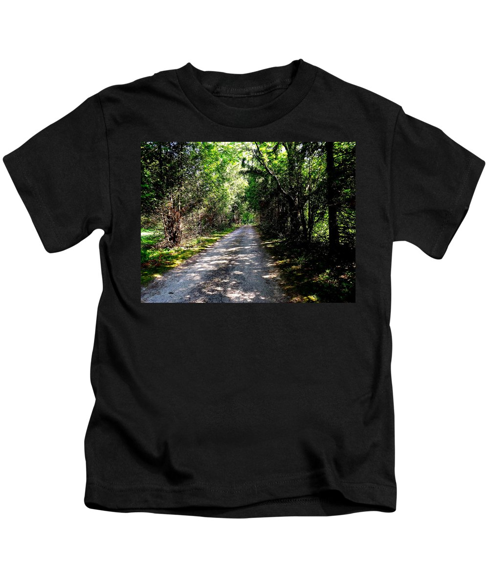Nature Kids T-Shirt featuring the photograph Nature's Trail by Shelley Blair