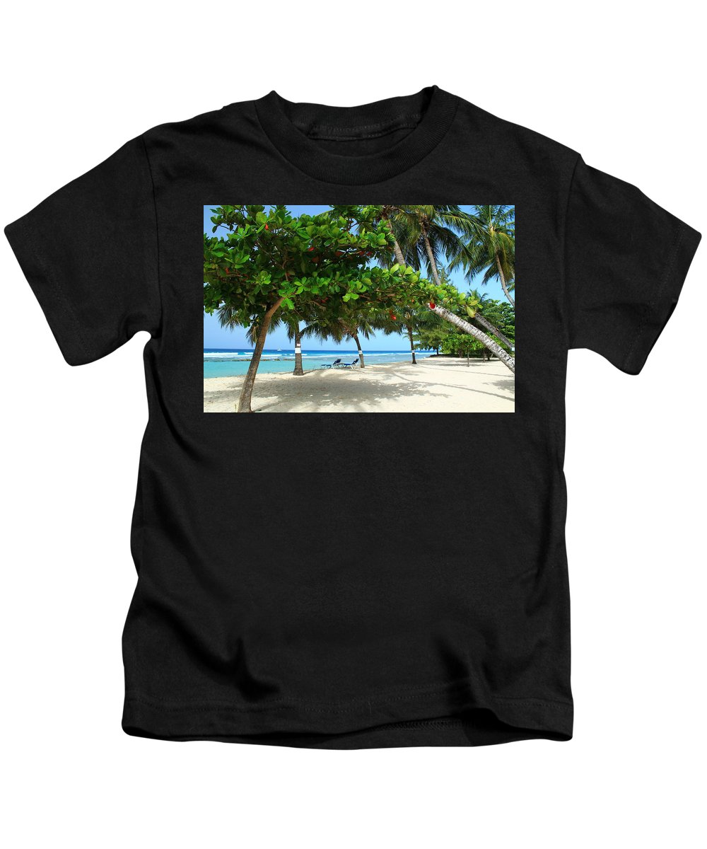 Barbados Kids T-Shirt featuring the photograph Natures Umbrella Tree by Catie Canetti