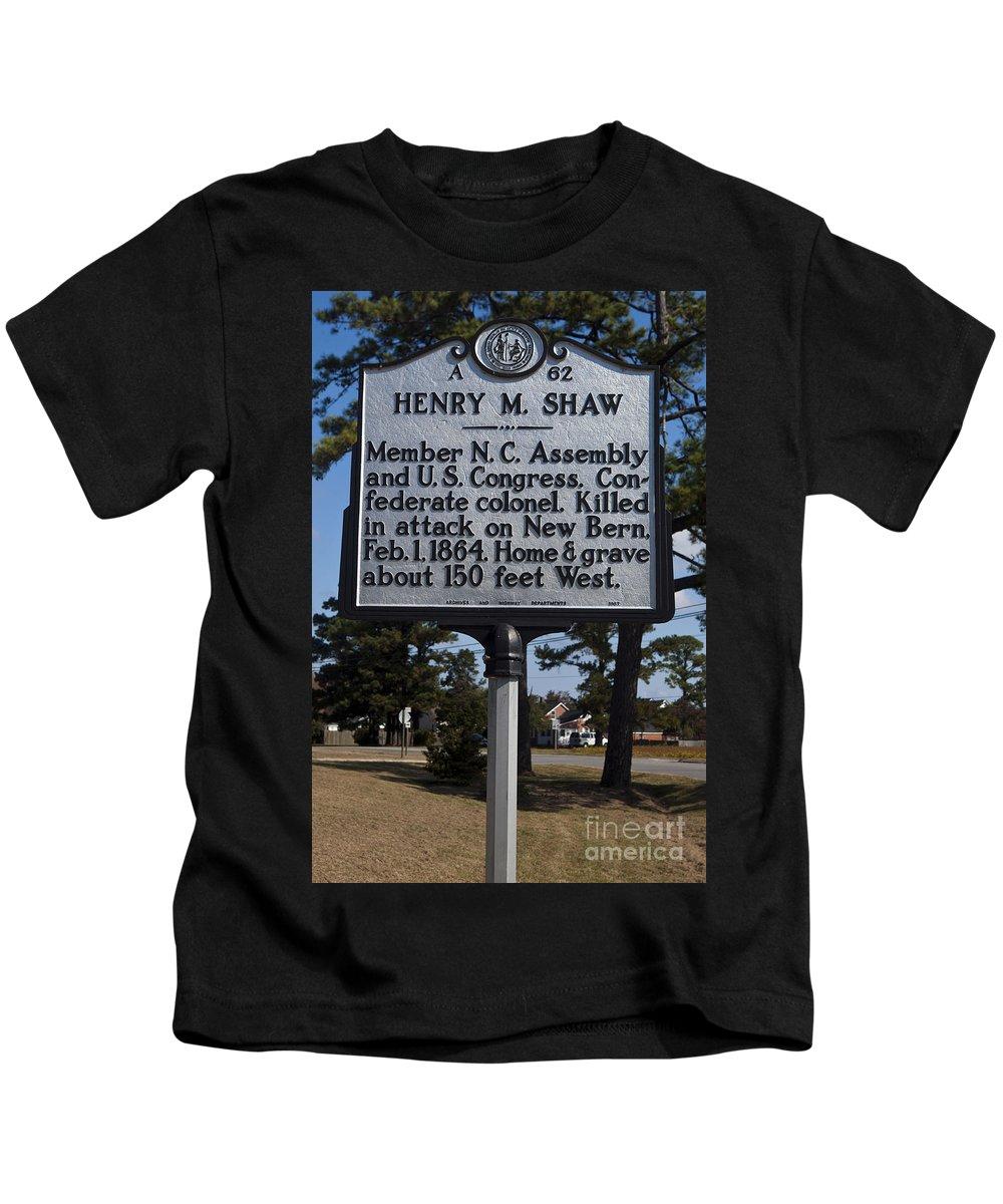 Henry M. Shaw Kids T-Shirt featuring the photograph Nc-a62 Henry M. Shaw by Jason O Watson