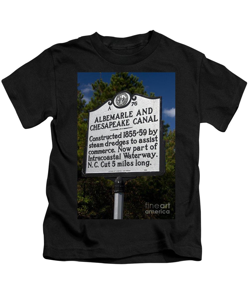 Albemarle And Chesapeake Canal Kids T-Shirt featuring the photograph Nc-a76 Albemarle And Chesapeake Canal by Jason O Watson