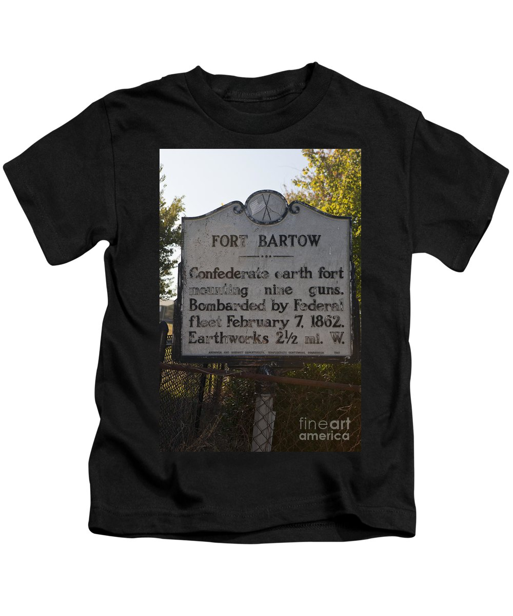 Fort Bartow Kids T-Shirt featuring the photograph Nc-bbb2 Fort Bartow by Jason O Watson