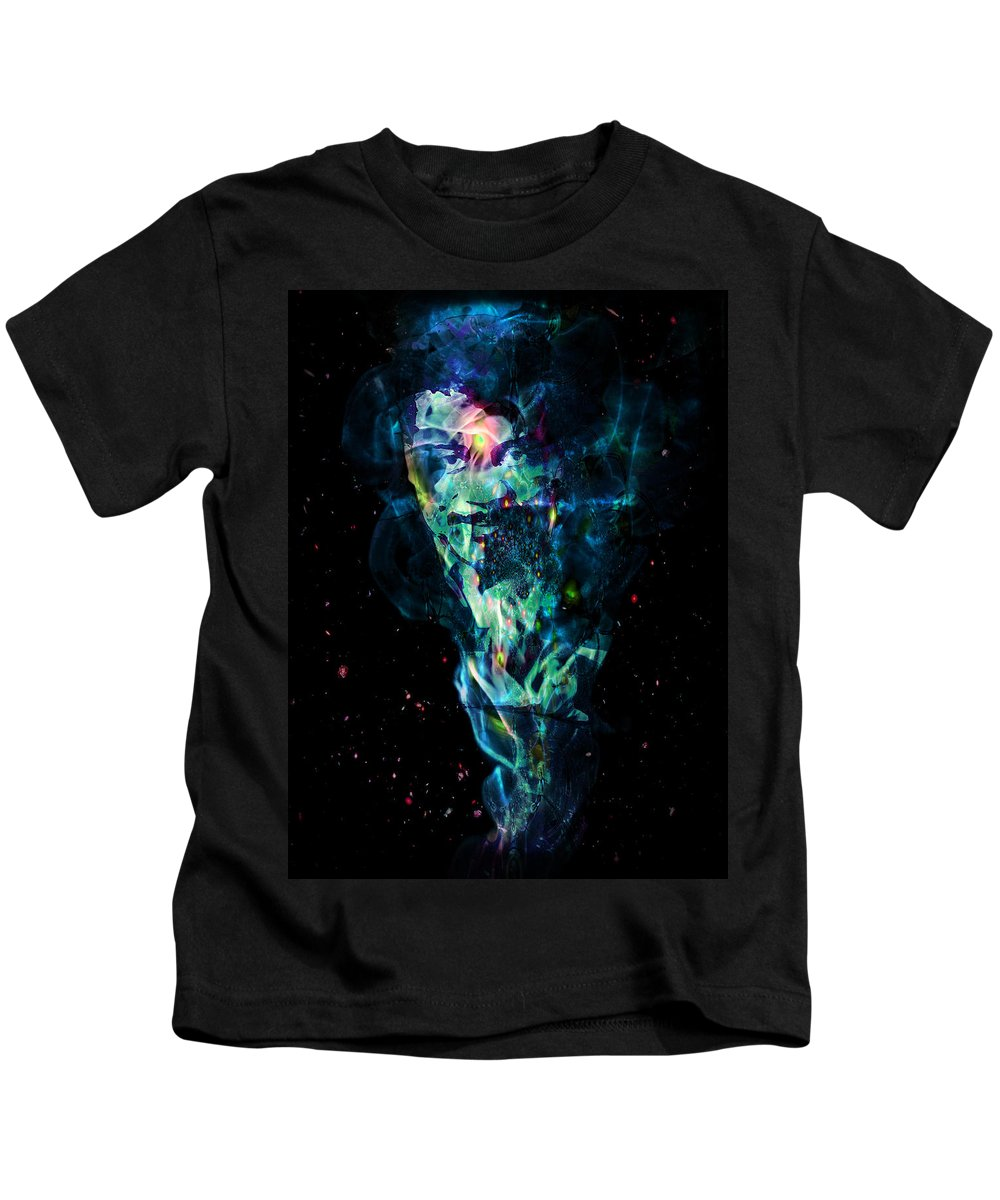 Neil Degrasse Tyson Kids T-Shirt featuring the digital art Neil Degrasse Tyson by D Walton