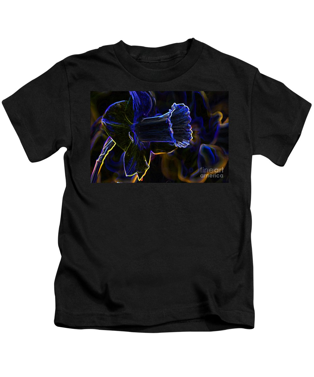 Neon Kids T-Shirt featuring the photograph Neon Flowers by Charles Dobbs