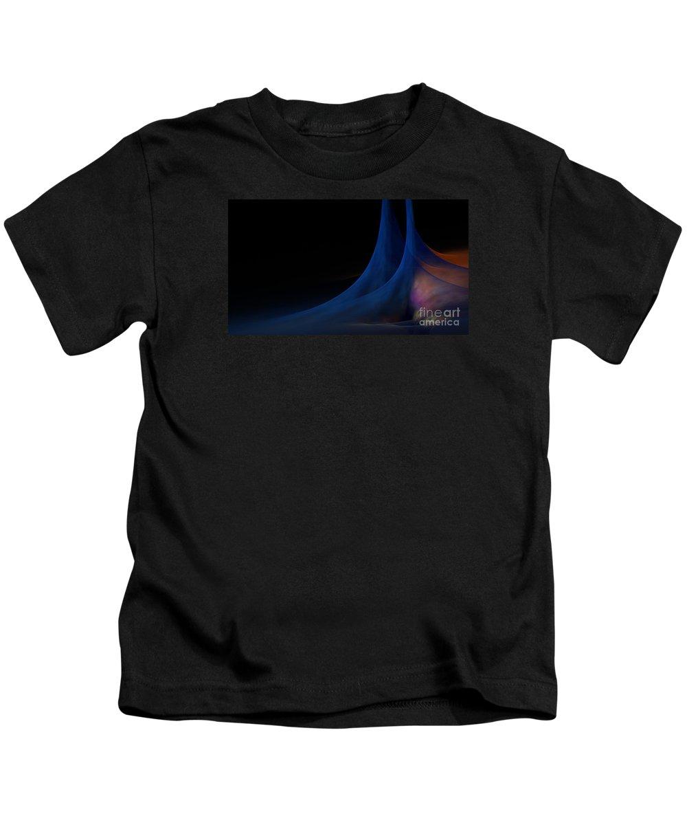 Peter R Nicholls Abstract Fine Artist Canada Kids T-Shirt featuring the digital art New Land by Peter R Nicholls