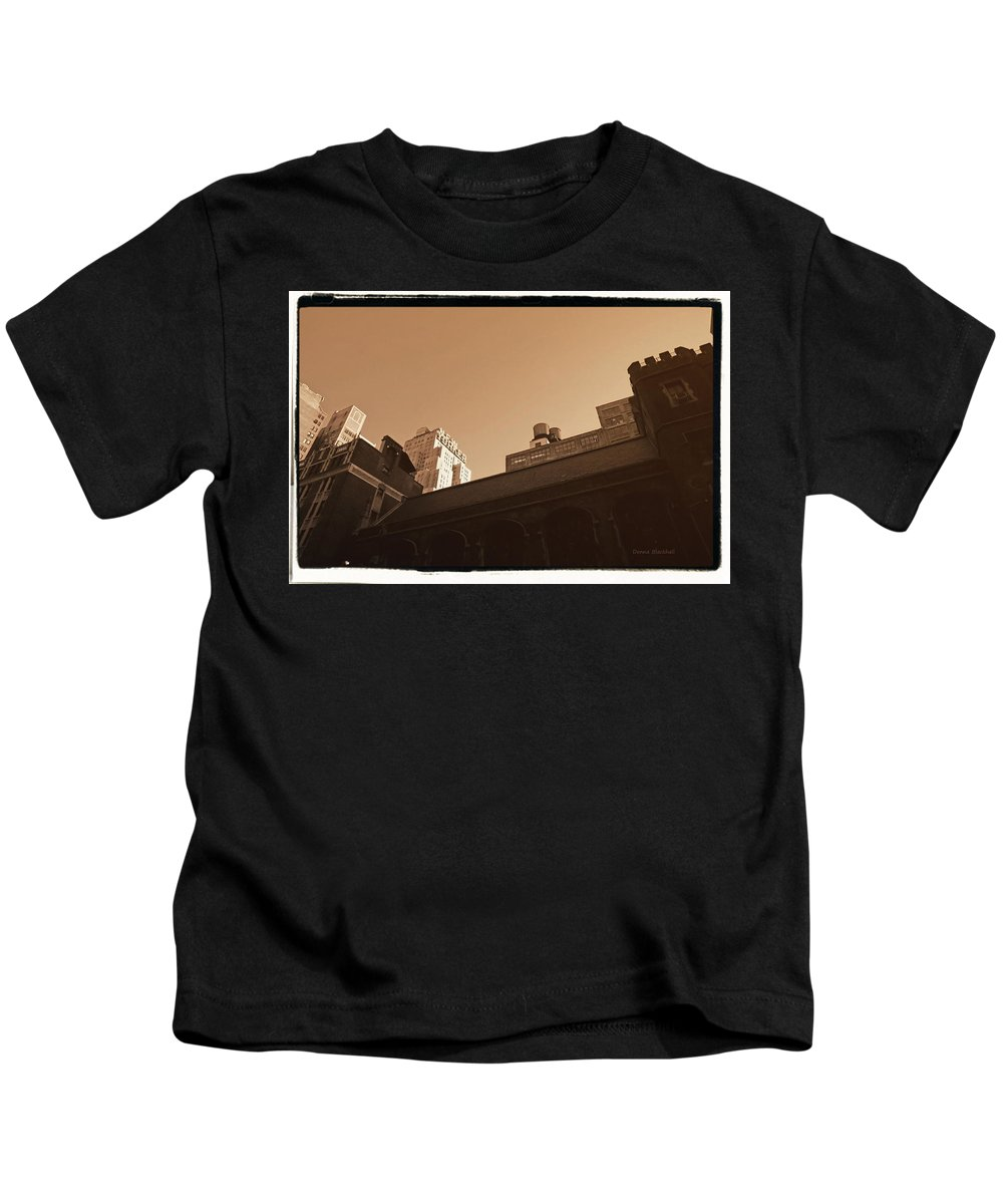 New York Kids T-Shirt featuring the photograph New Yorker by Donna Blackhall