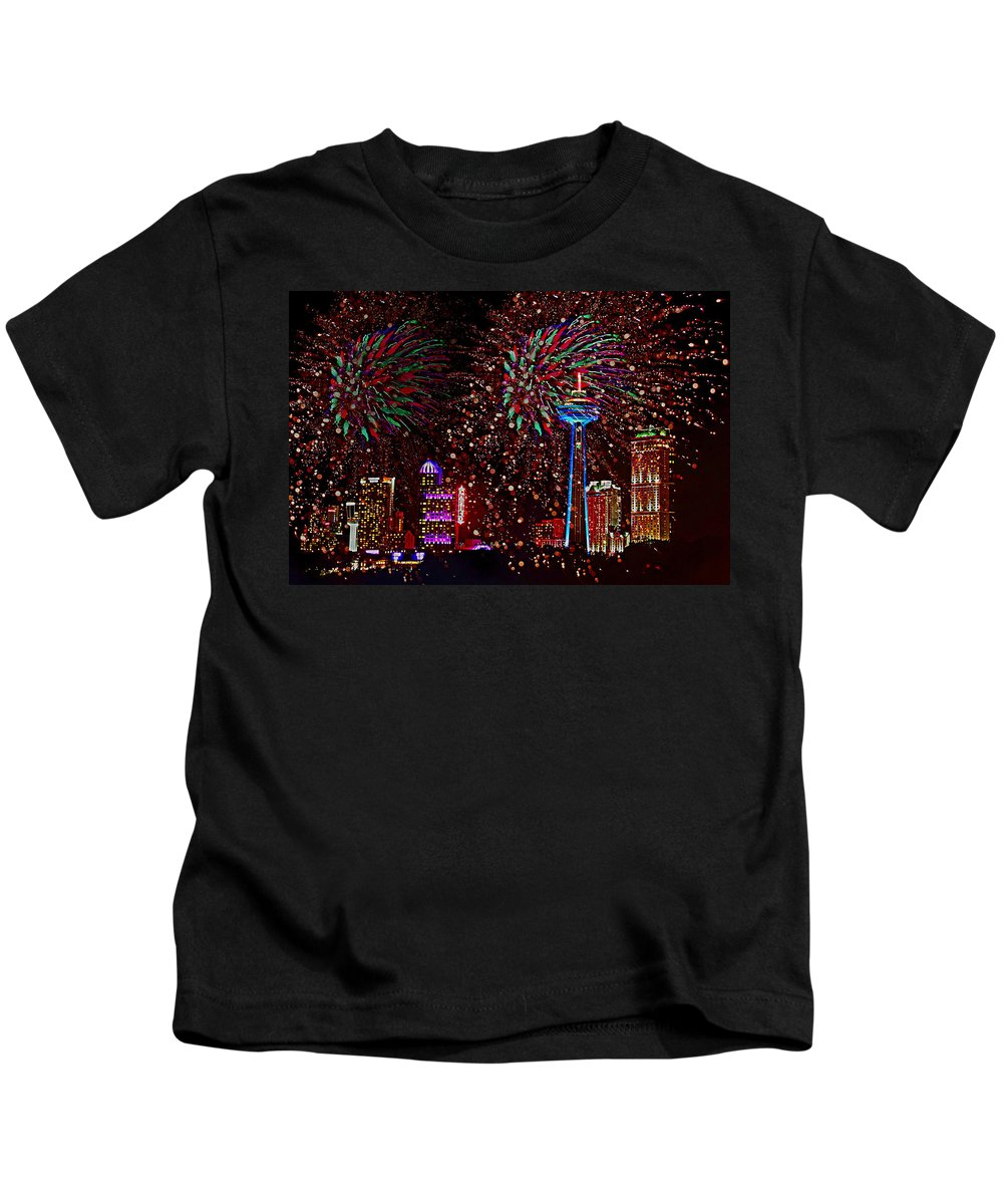 Fireworks Kids T-Shirt featuring the photograph Niagara Fireworks by Alice Gipson