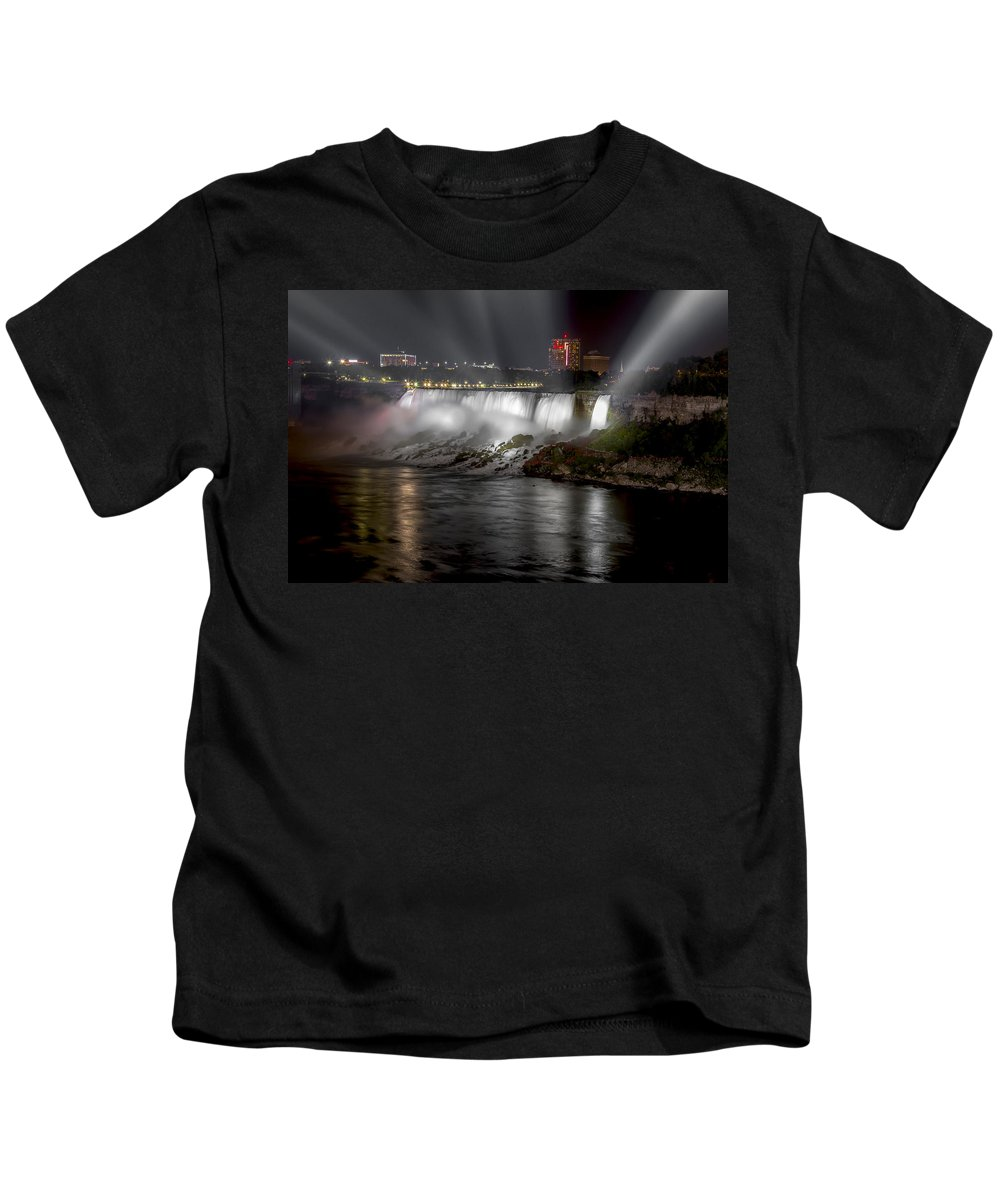 Niagara Falls Kids T-Shirt featuring the photograph Niagra Falls by Eduard Moldoveanu