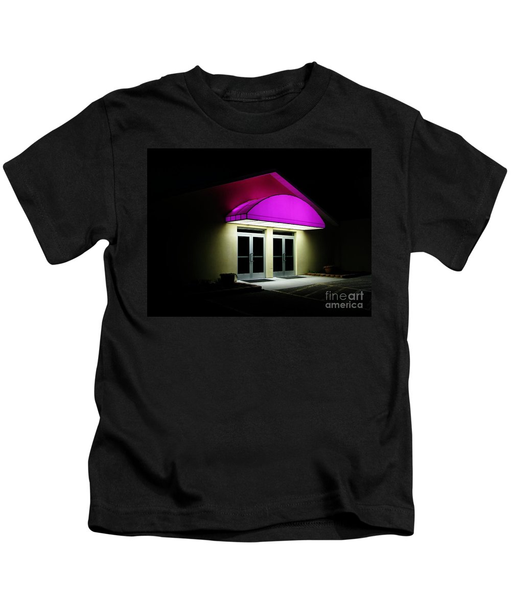 Closed Kids T-Shirt featuring the photograph Night by Ann Horn