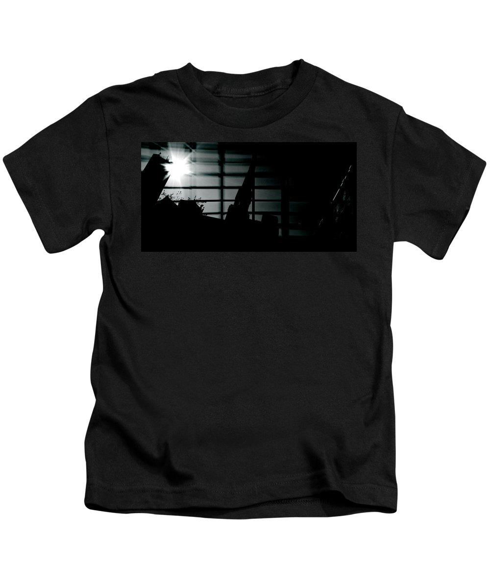 Street Photography Kids T-Shirt featuring the photograph Nights Broken Glass by The Artist Project