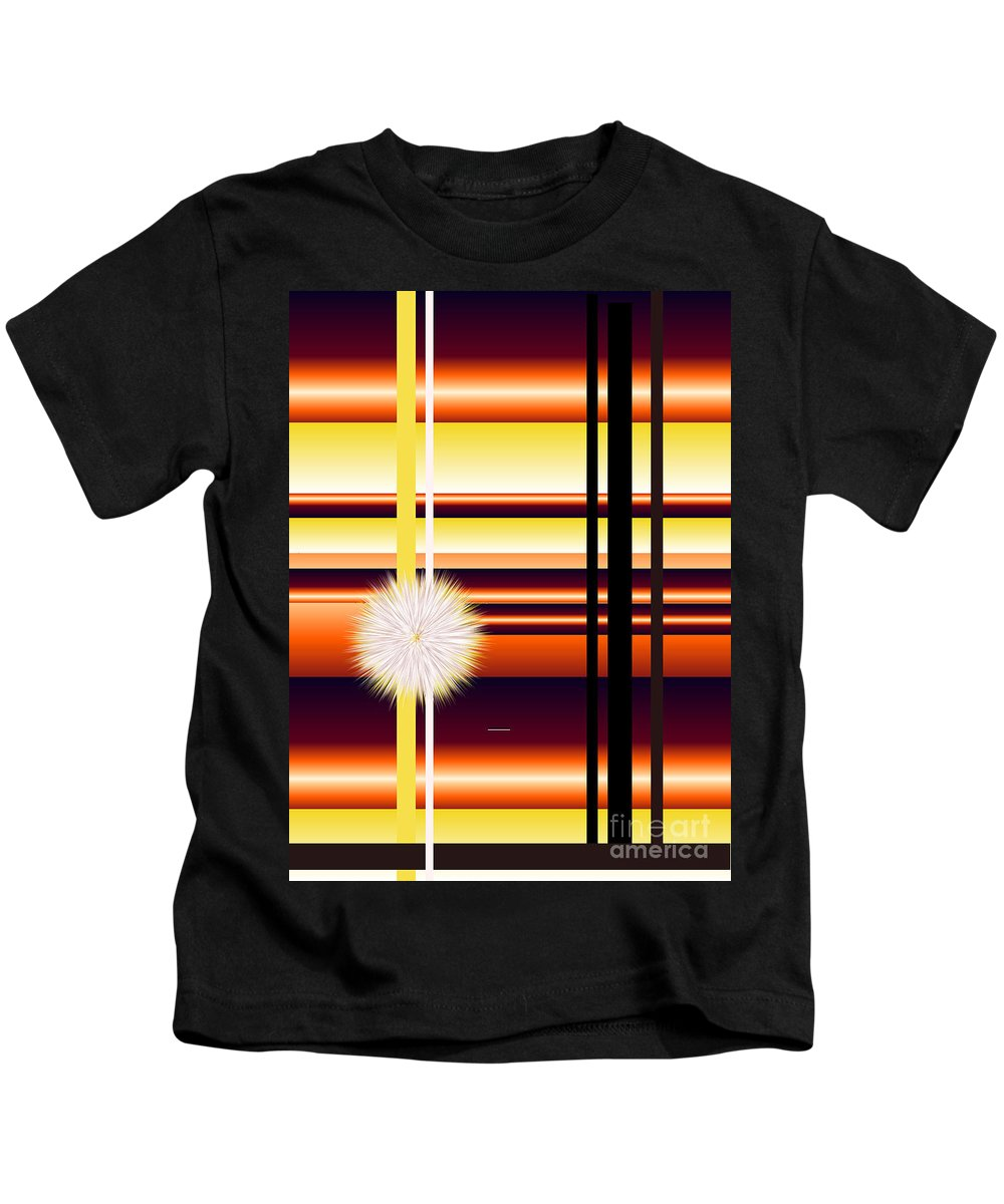 Kids T-Shirt featuring the digital art No. 140 by John Grieder