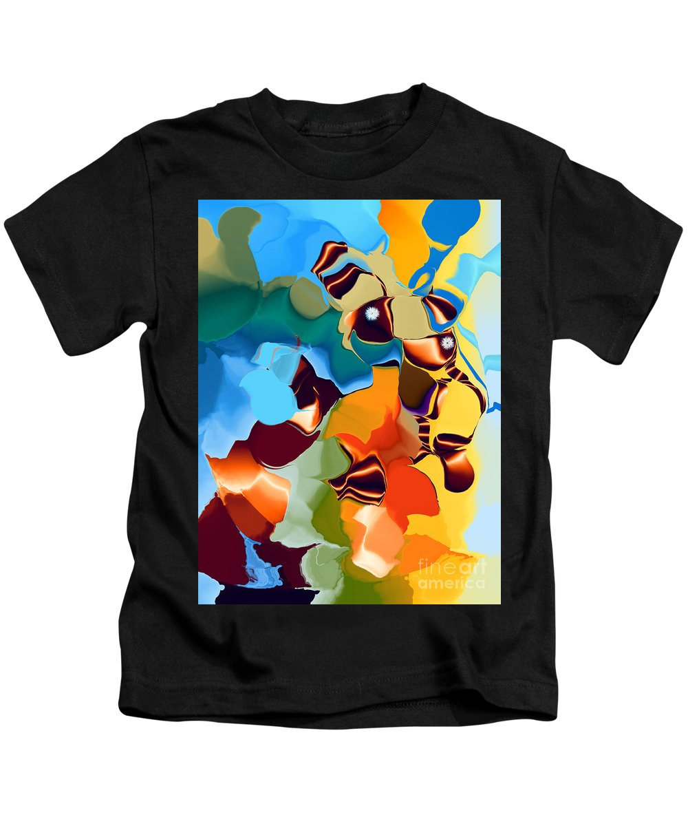 Kids T-Shirt featuring the digital art No. 223 by John Grieder