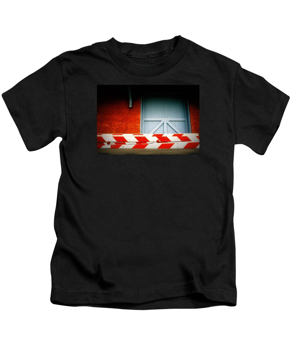 Fine Art Kids T-Shirt featuring the photograph No Passage by Rodney Lee Williams