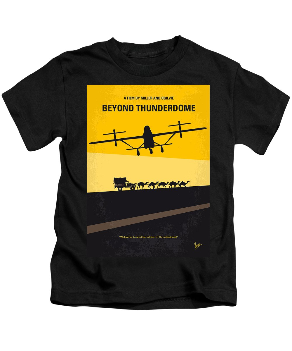 Beyond Kids T-Shirt featuring the digital art No051 My Mad Max 3 Beyond Thunderdome Minimal Movie Poster by Chungkong Art