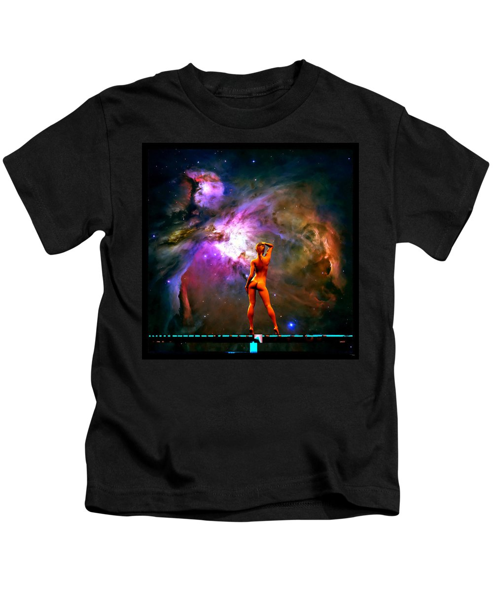 Color Kids T-Shirt featuring the digital art Nude Amongst The Stars 3... by Tim Fillingim