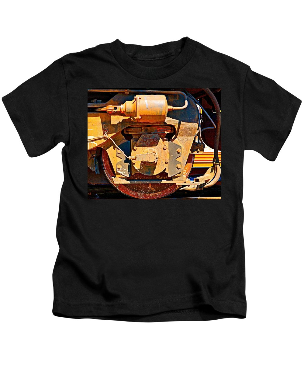 Trains Kids T-Shirt featuring the photograph Number 231 by Ira Shander