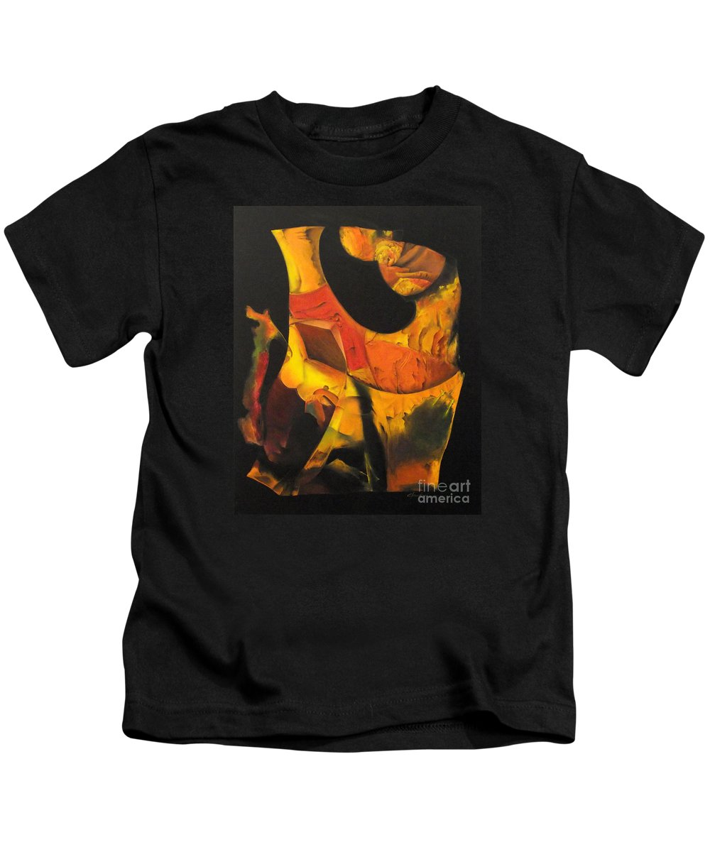 Mistico Kids T-Shirt featuring the painting O Iluminado by J C Moreira