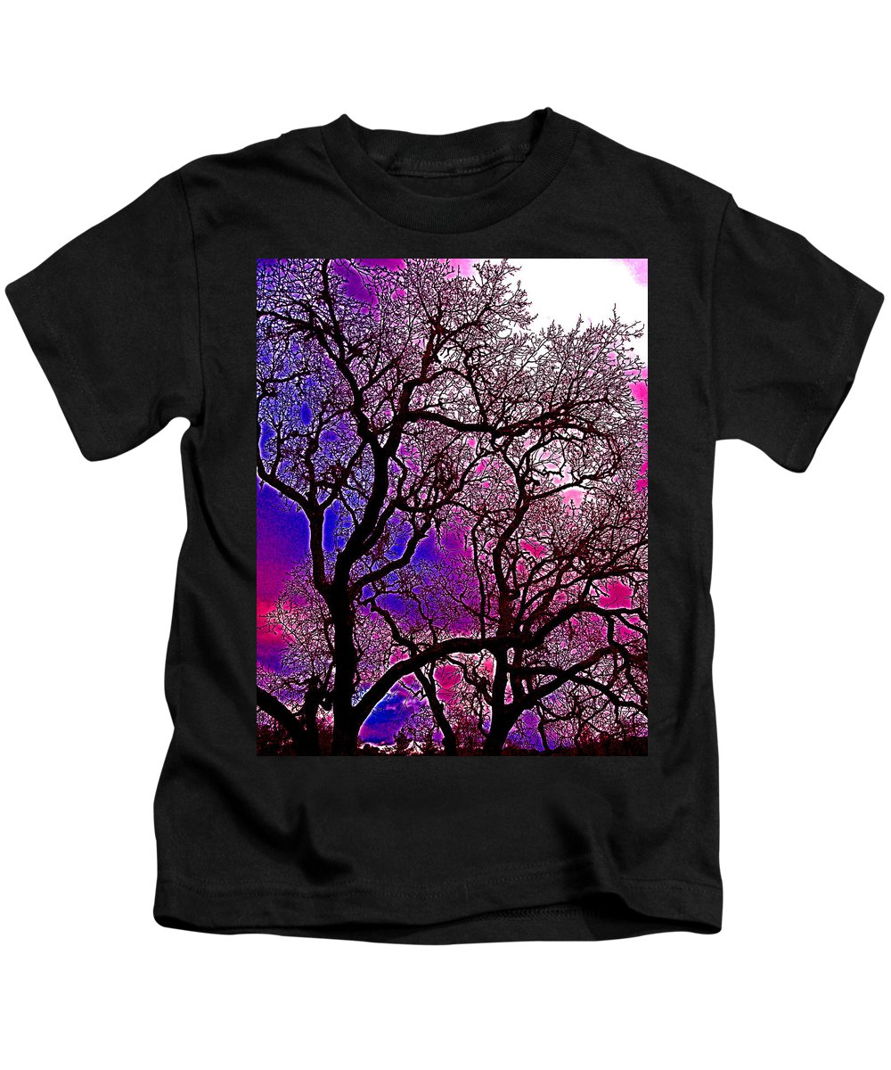 Trees Kids T-Shirt featuring the photograph Oaks 6 by Pamela Cooper