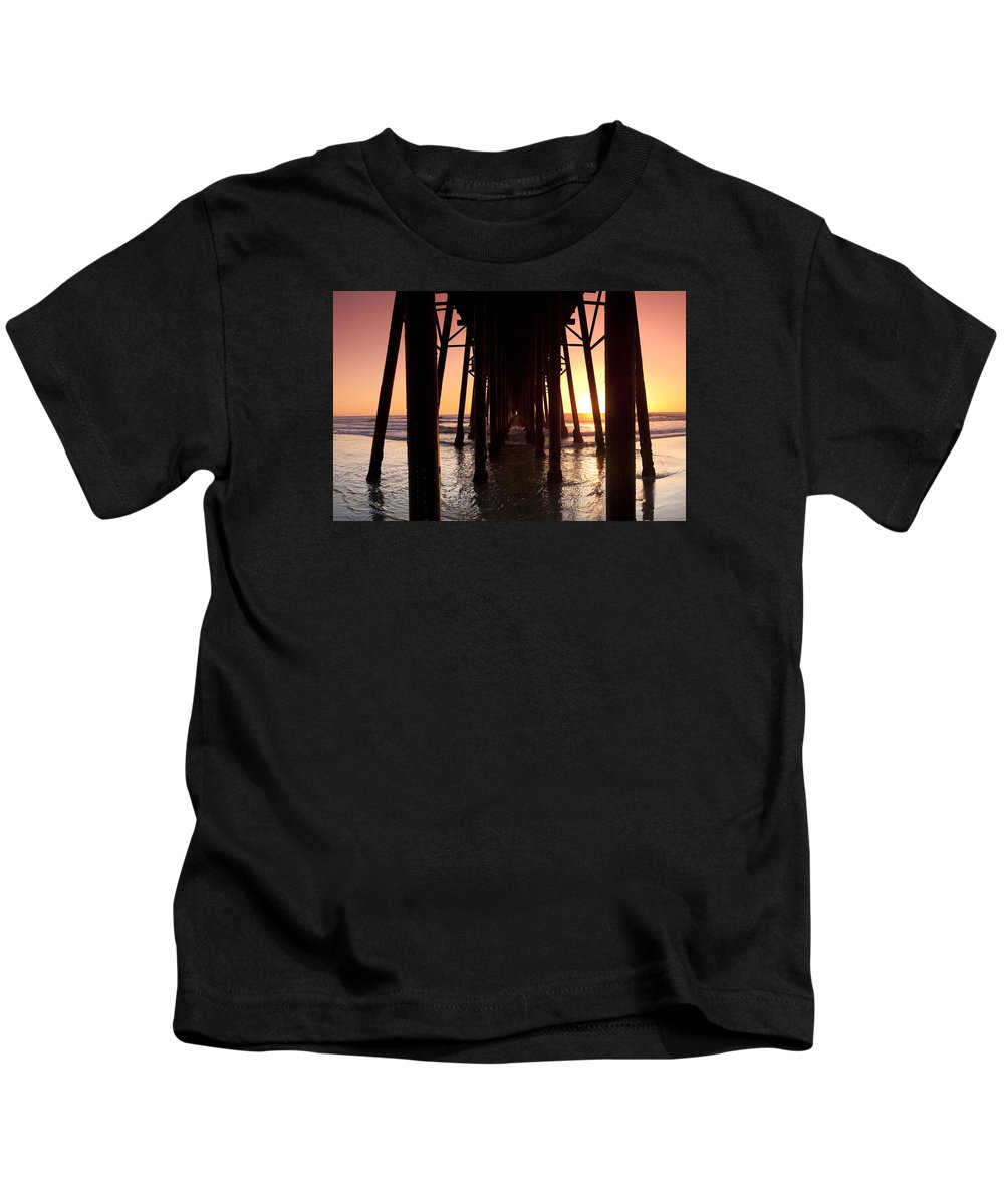 Sunset Kids T-Shirt featuring the photograph Oceanside Pier Tunnel by Sean Davey