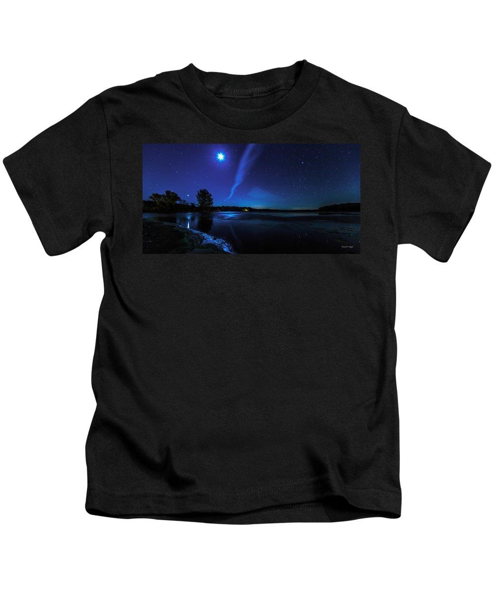 Fair Kids T-Shirt featuring the photograph October Moon by Everet Regal