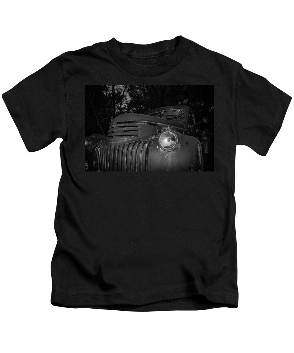 Chevy Kids T-Shirt featuring the photograph Old Chevy Truck 2 by Chad Rowe