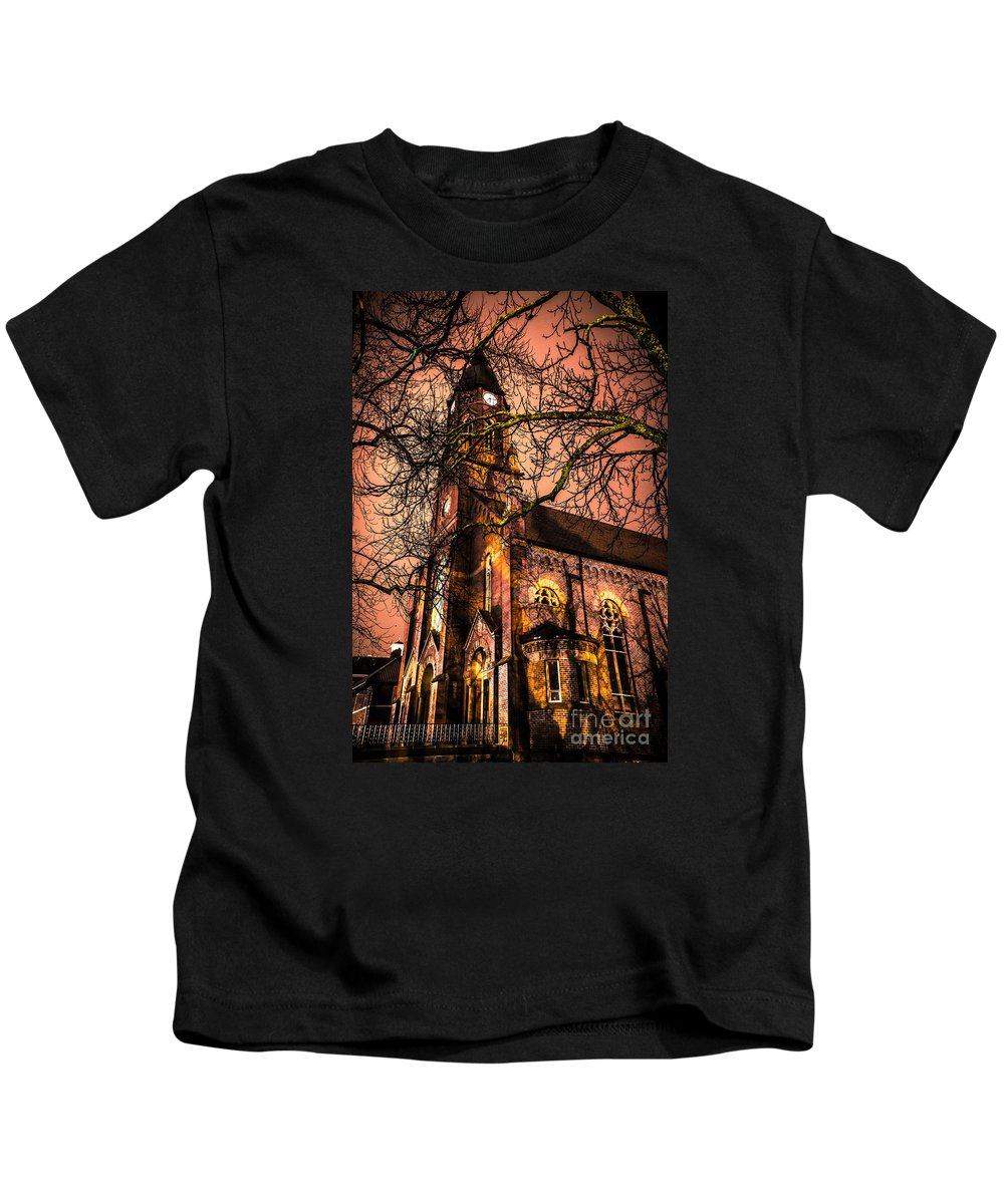 Building Kids T-Shirt featuring the photograph Old Church by Michael Arend