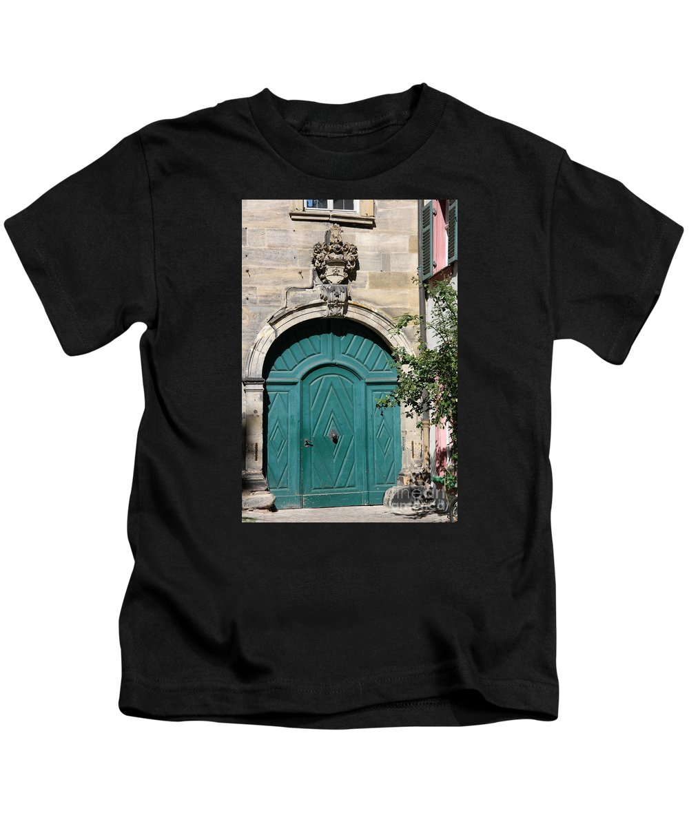 Door Kids T-Shirt featuring the photograph Old German Door by Christiane Schulze Art And Photography