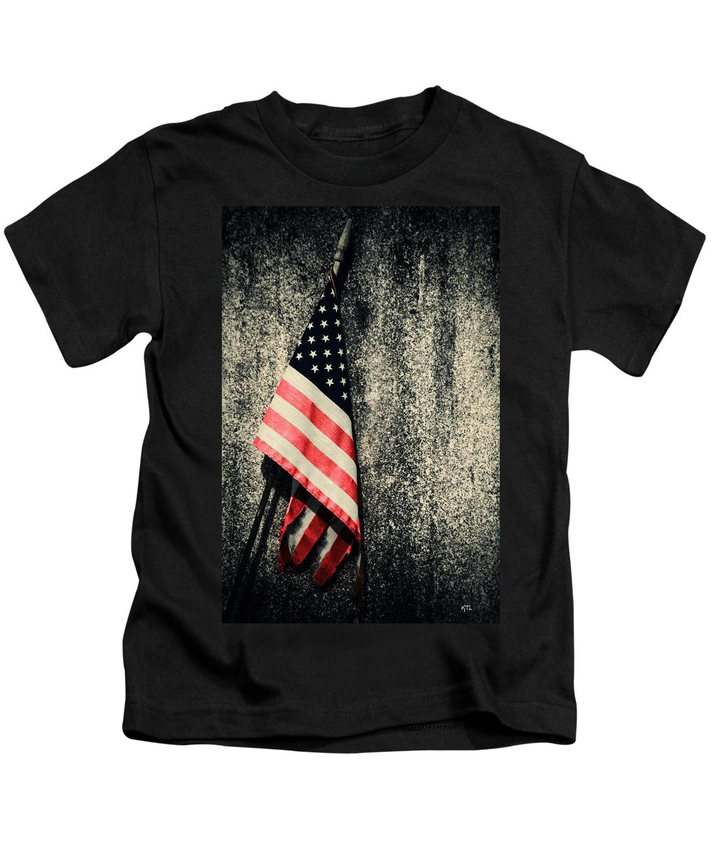Flag Kids T-Shirt featuring the photograph Old Glory by Karol Livote