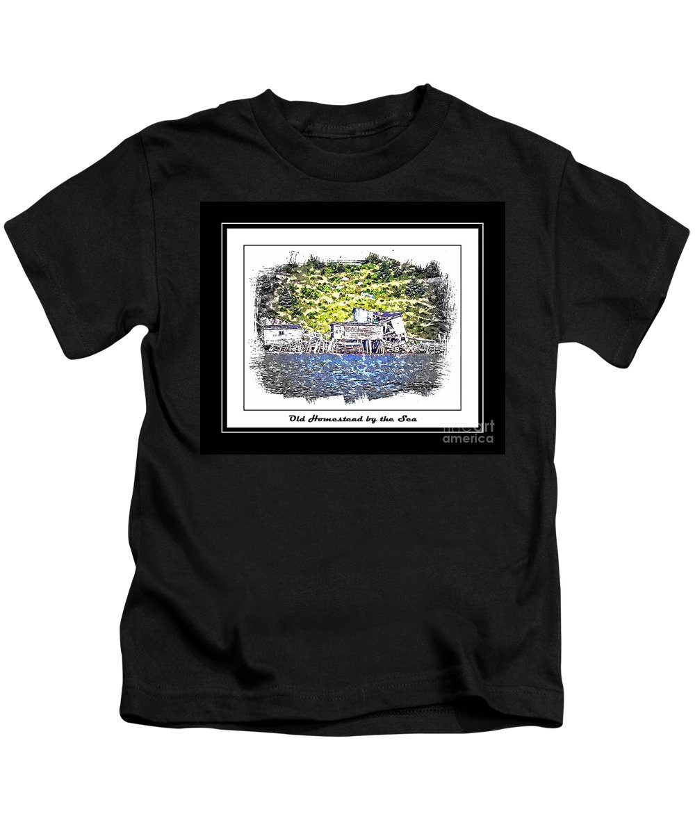 Old Homestead Kids T-Shirt featuring the photograph Old Homestead By The Sea by Barbara Griffin