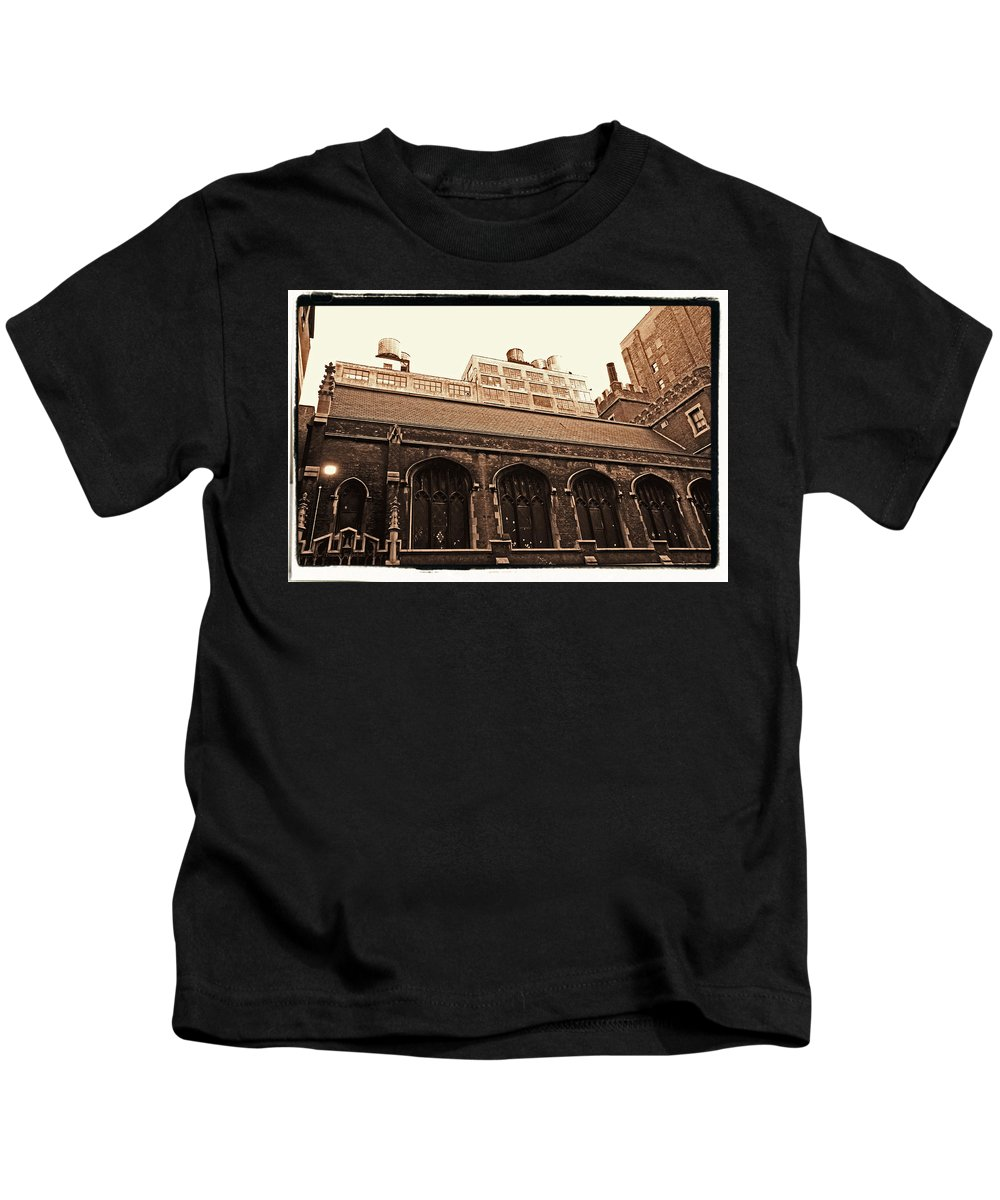 New York Kids T-Shirt featuring the photograph Old Industry by Donna Blackhall