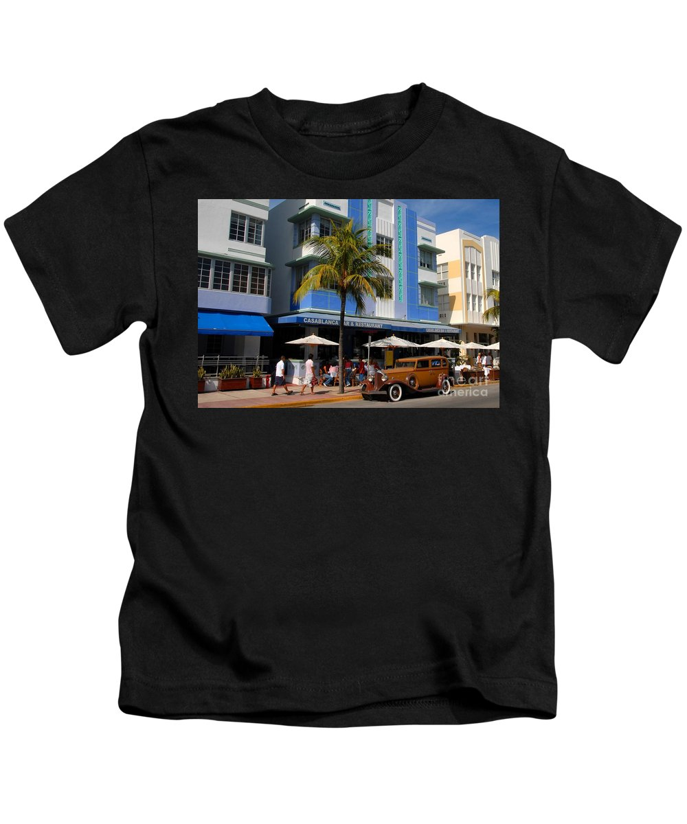Miami Florida Kids T-Shirt featuring the photograph Old Miami by David Lee Thompson