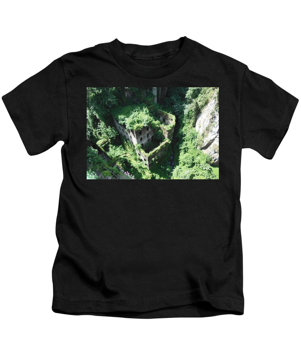 Sorrento Kids T-Shirt featuring the photograph Old Mill Of Sorrento by Marilyn Dunlap