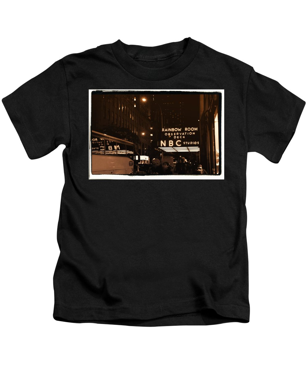New York Kids T-Shirt featuring the photograph Old New York by Donna Blackhall