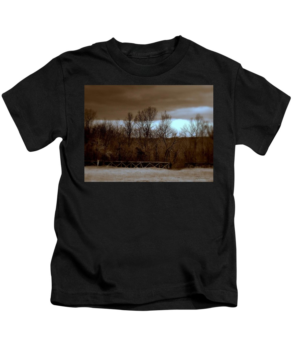 Old Railroad Kids T-Shirt featuring the photograph Old Railroad by Bob and Kathy Frank
