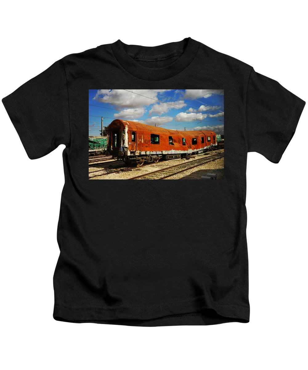 Spain Kids T-Shirt featuring the photograph Oldie At Sidetrack by Jenny Rainbow