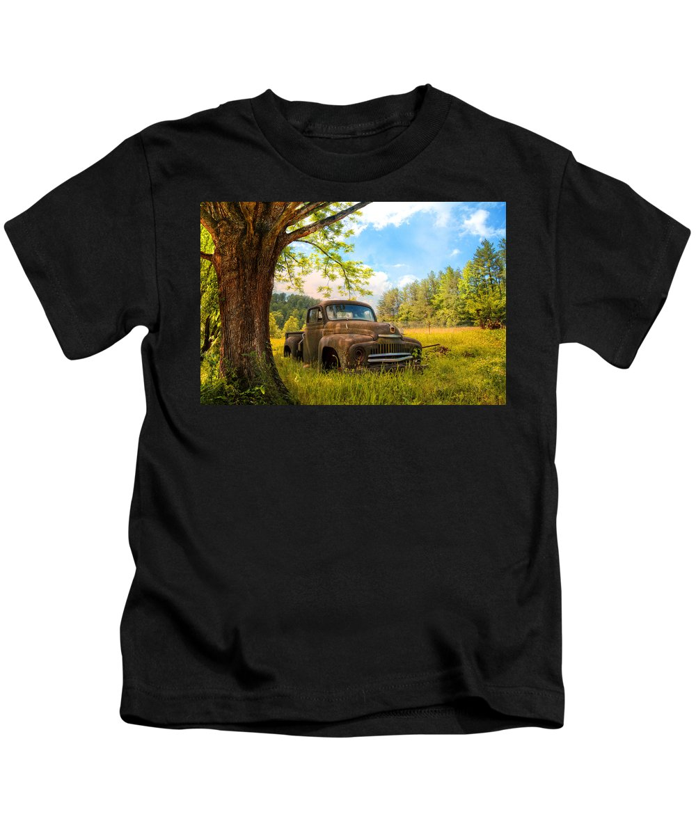 1950s Kids T-Shirt featuring the photograph Oldie Goldie by Debra and Dave Vanderlaan