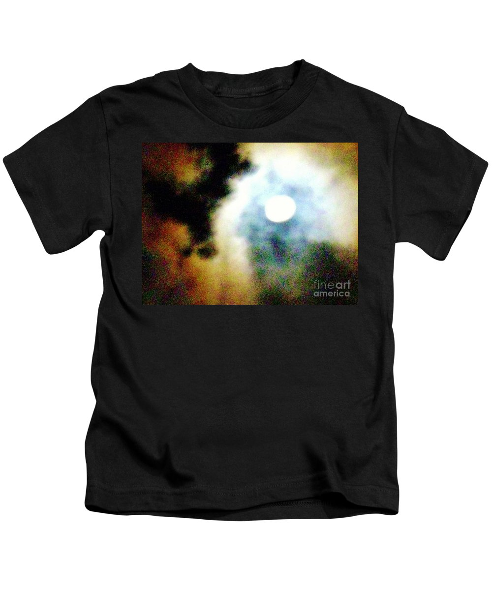 Moon Kids T-Shirt featuring the photograph Ominous Moon by Janell R Colburn
