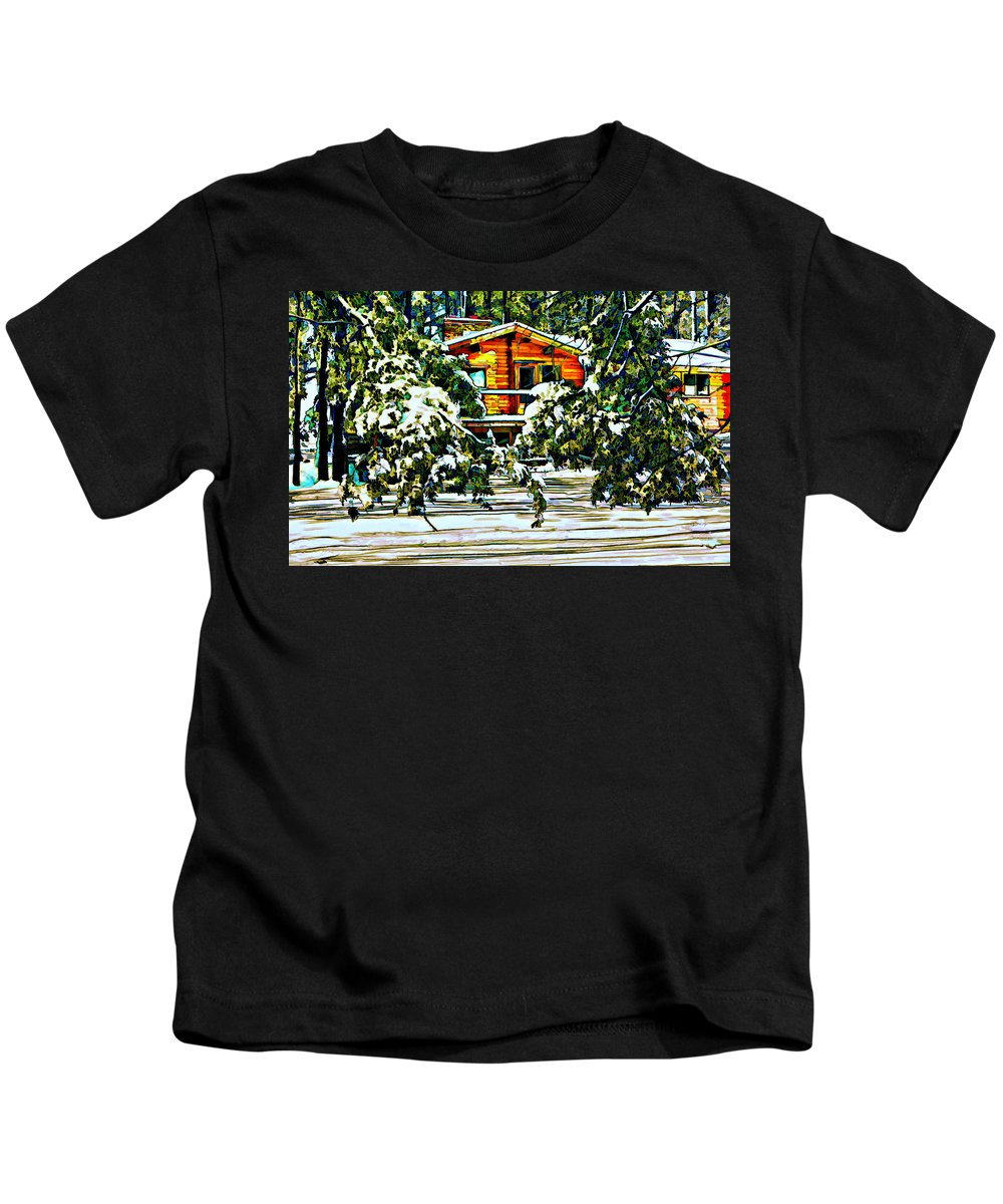 Winter Kids T-Shirt featuring the photograph On A Winter Day by Steve Harrington