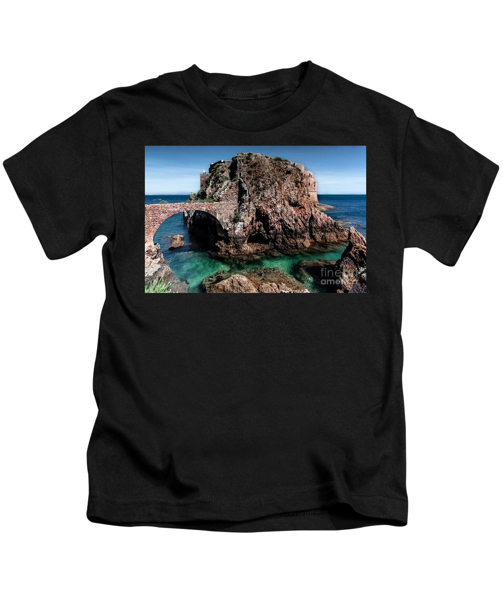 Berlengas Island Kids T-Shirt featuring the photograph On Another Planet by Edgar Laureano