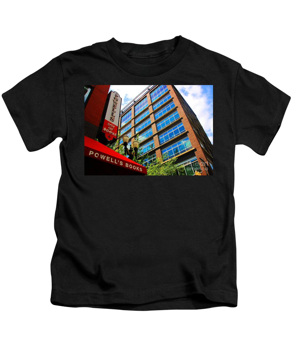 Oregon Kids T-Shirt featuring the photograph One Bookstore Still Standing by Kris Hiemstra