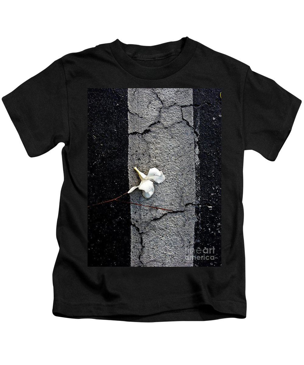 Abstract Kids T-Shirt featuring the photograph One by Fei A