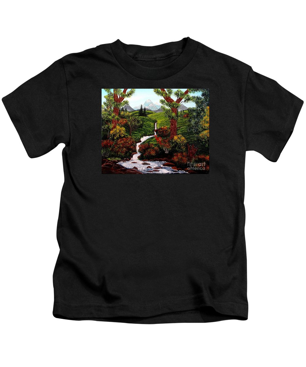 Barbara Griffin Kids T-Shirt featuring the painting One Last Look by Barbara Griffin