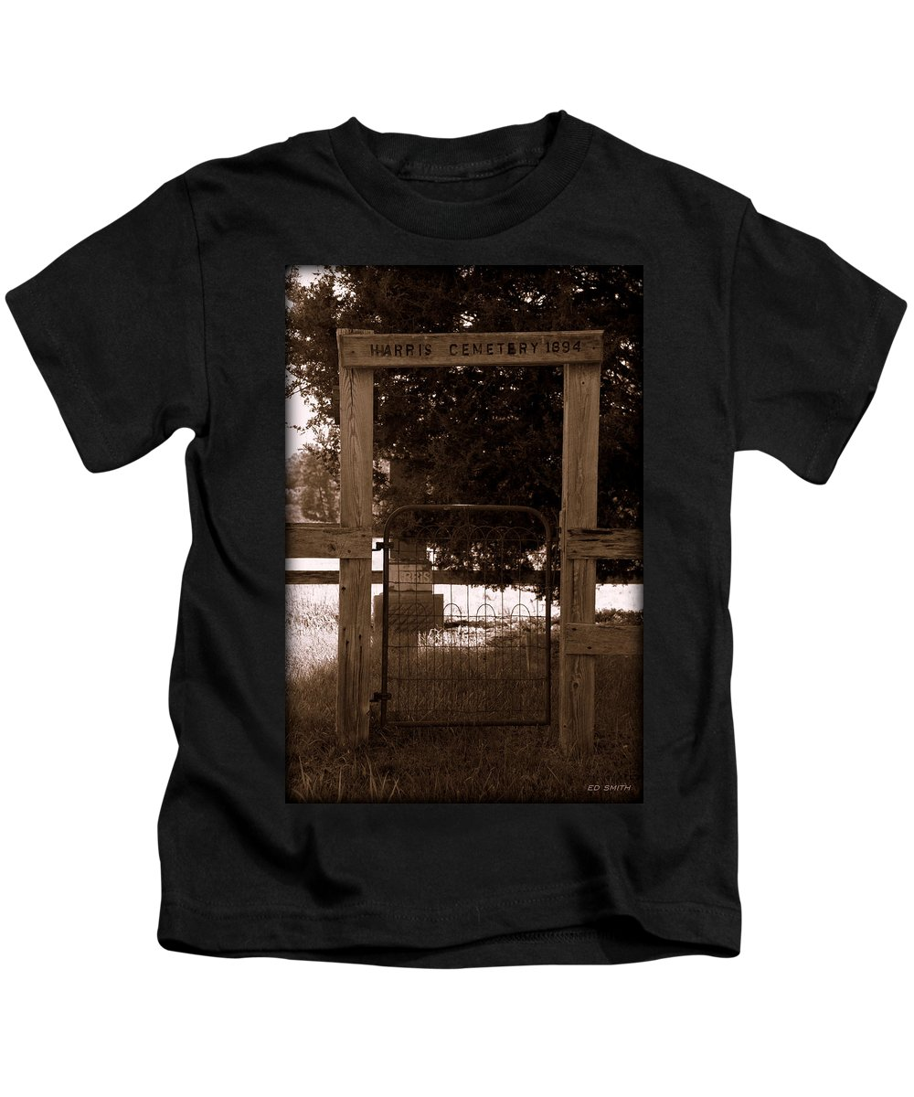 One Man Show Kids T-Shirt featuring the photograph One Man Show by Ed Smith