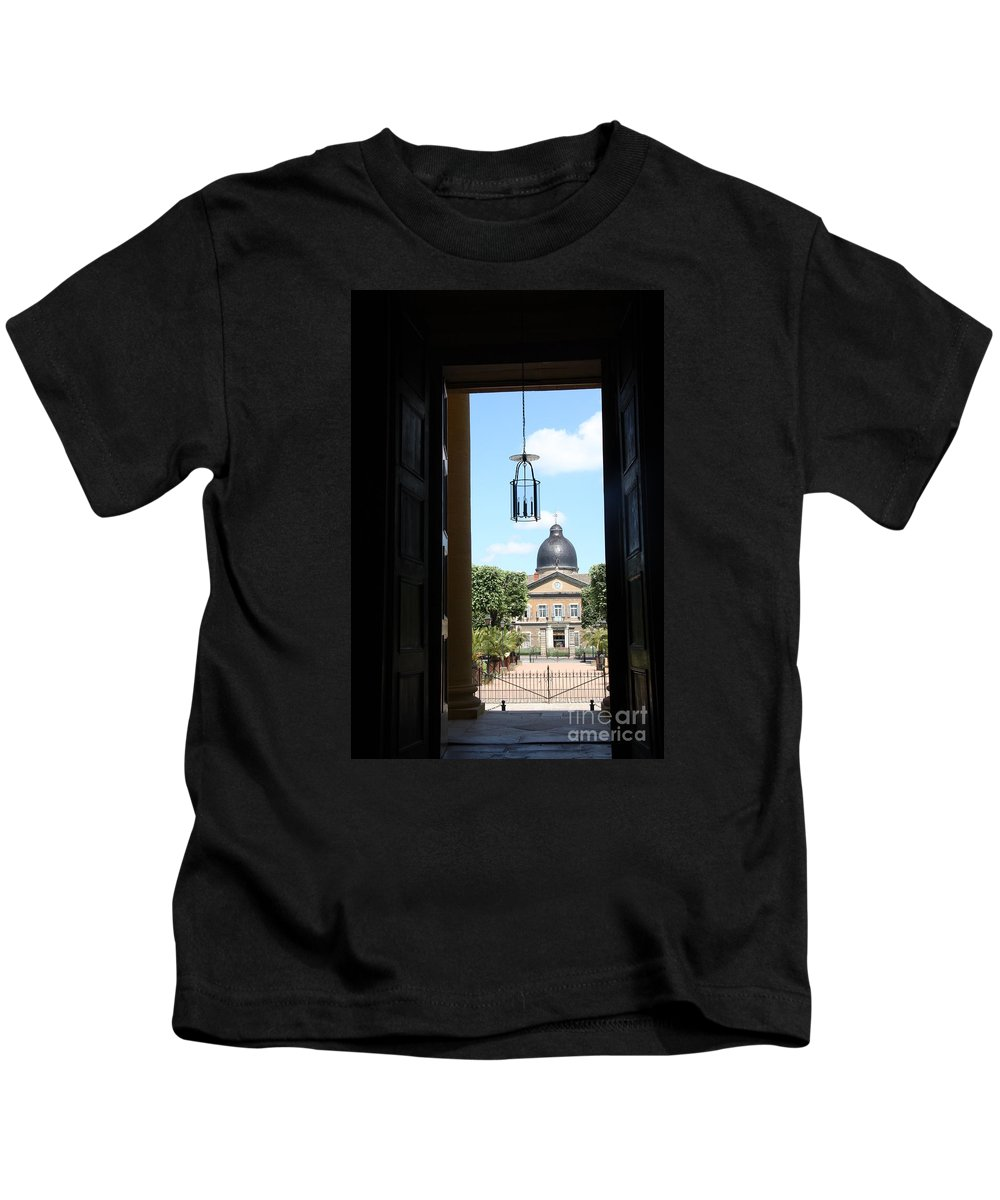 Hospital Kids T-Shirt featuring the photograph Open Church Door - Macon by Christiane Schulze Art And Photography