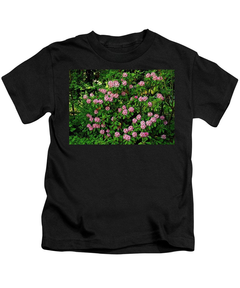 Oregon Kids T-Shirt featuring the photograph Oregon Azaleas by Ed Riche