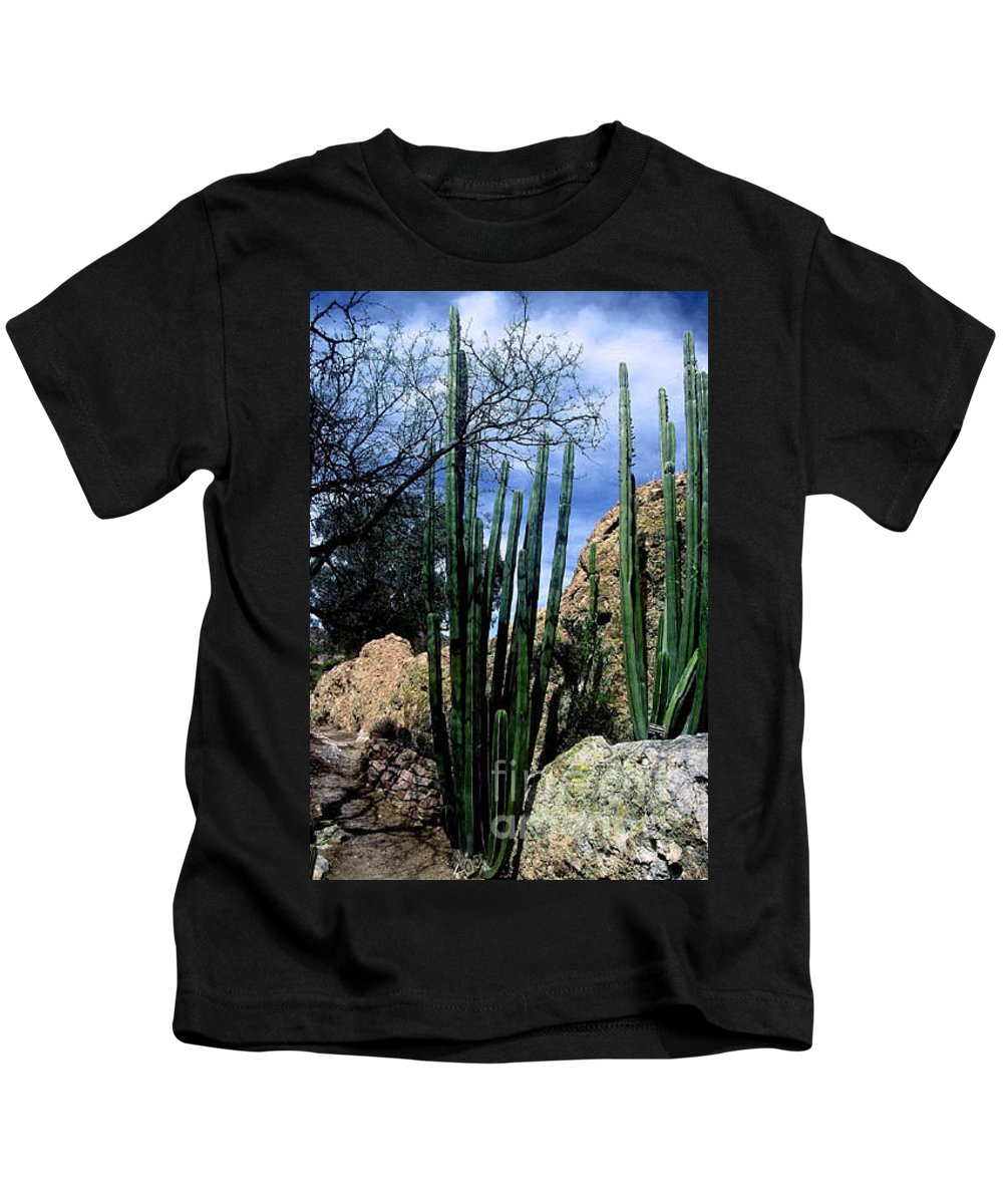 Cactus Kids T-Shirt featuring the photograph Organ Pipe by Kathy McClure