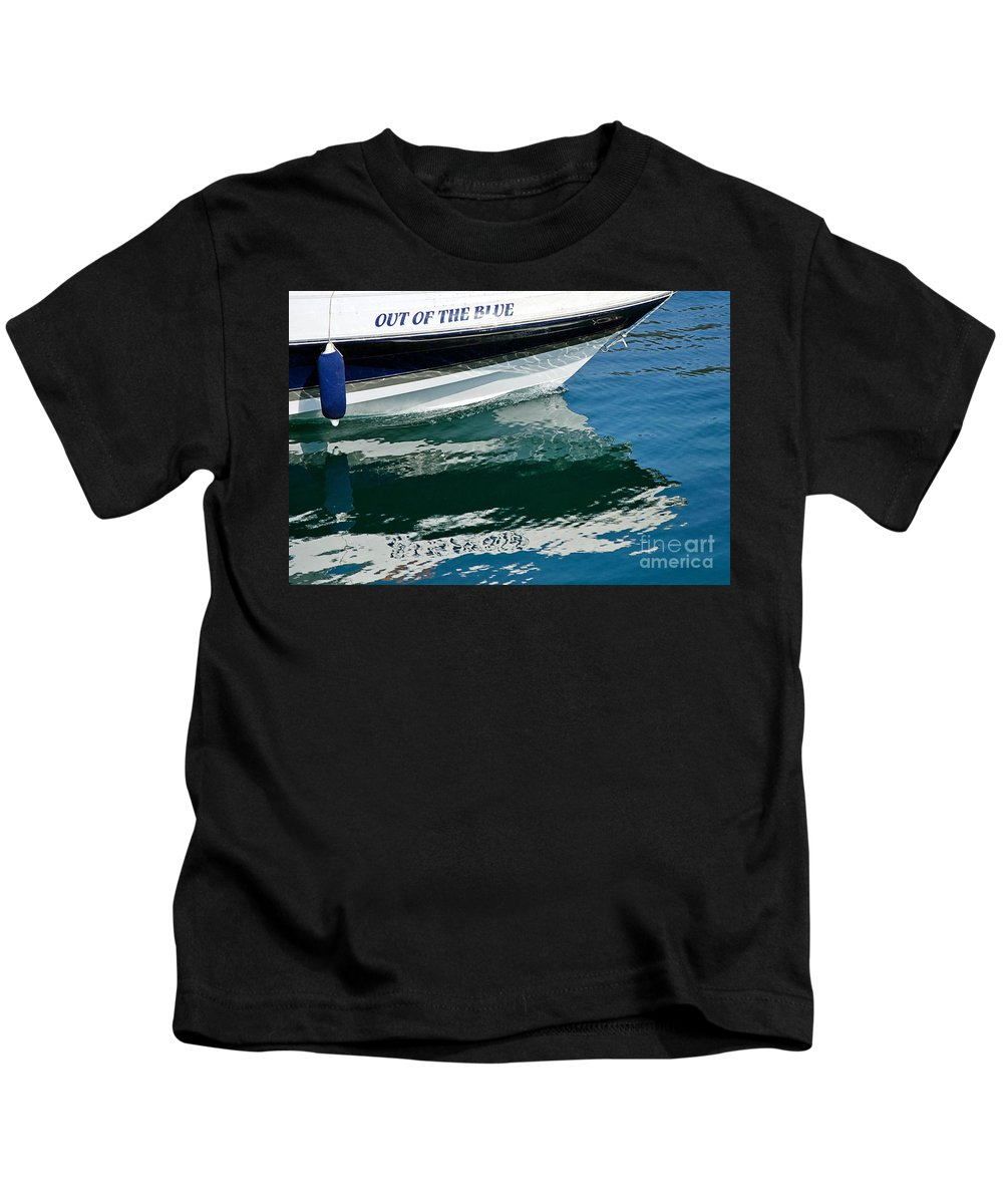 Out Of The Blue Kids T-Shirt featuring the photograph Out Of The Blue by Susie Peek