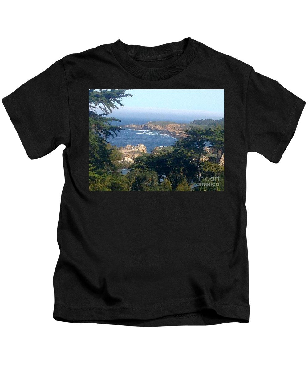 Carmel Kids T-Shirt featuring the photograph Overlooking Carmel Beach by Christy Gendalia