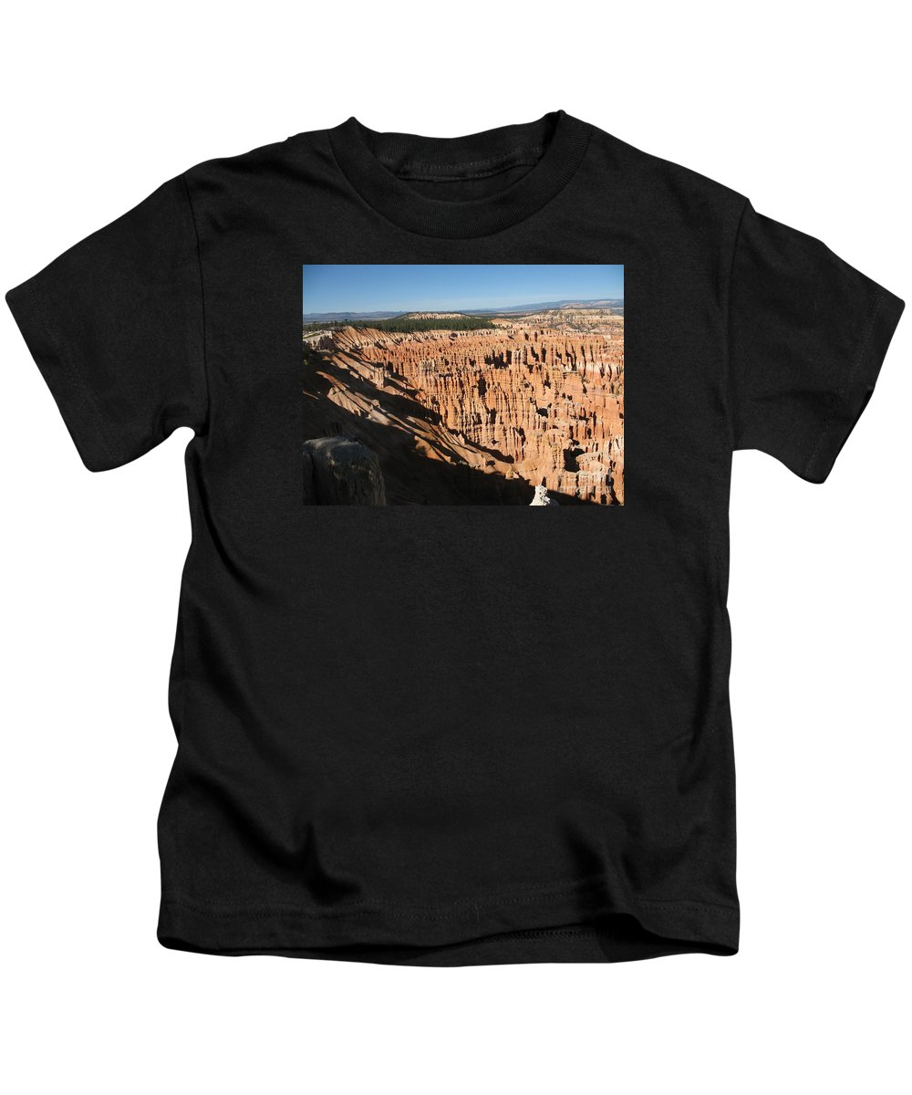 Mountians Kids T-Shirt featuring the photograph Overview At Bryce Canyon by Christiane Schulze Art And Photography