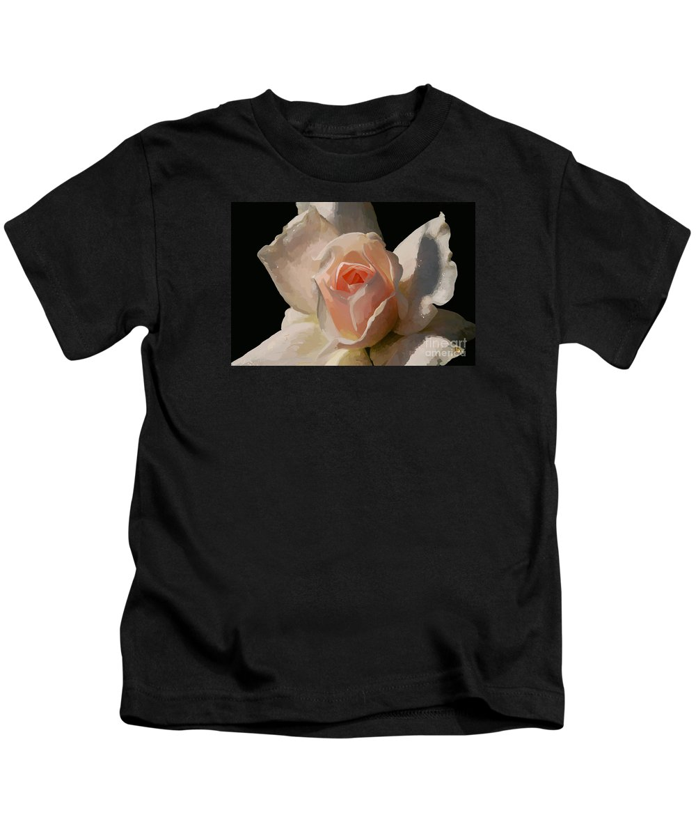 Rose Kids T-Shirt featuring the digital art Painted Rose by Lois Bryan