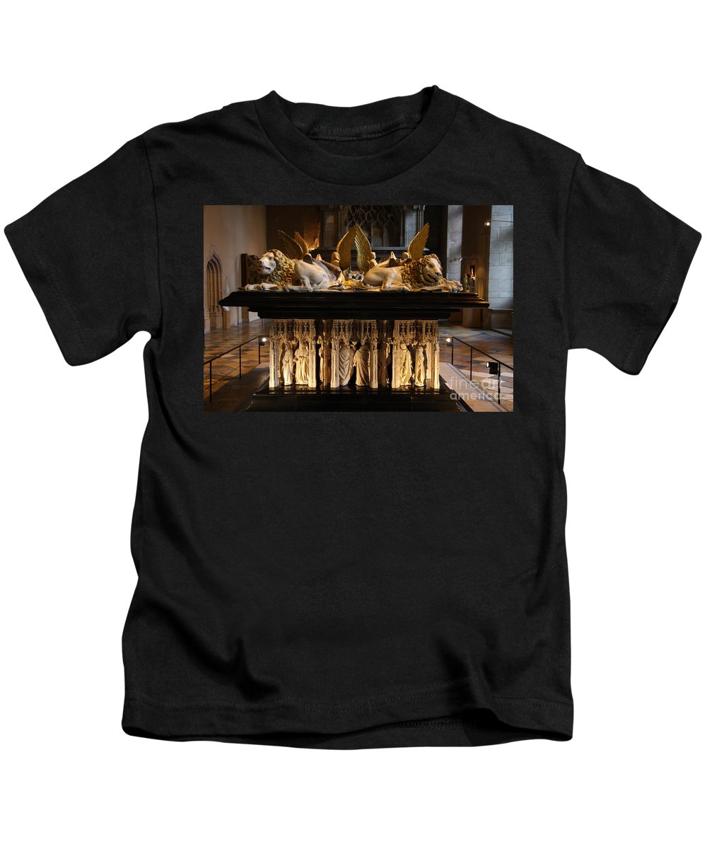 Museum Kids T-Shirt featuring the photograph Palace Dijon - Salle De Gardes by Christiane Schulze Art And Photography